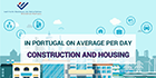 In Portugal on average per day: Construction and Housing